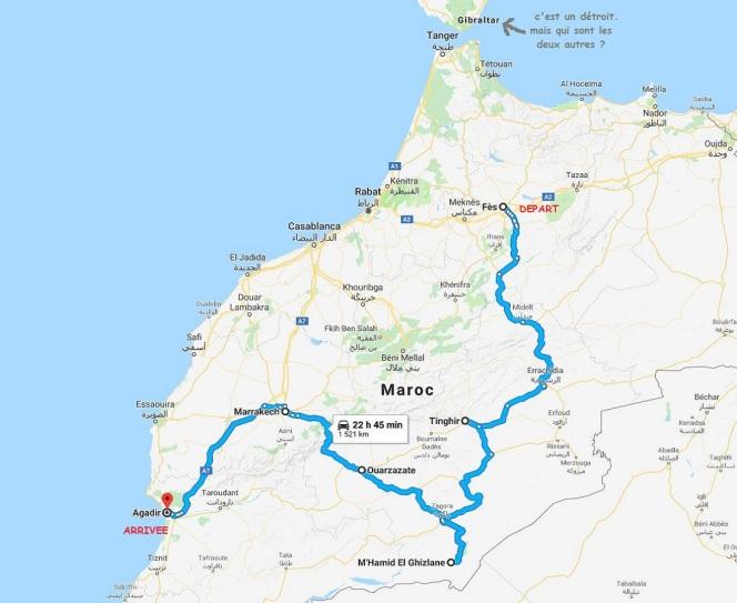 itineraire Maroc