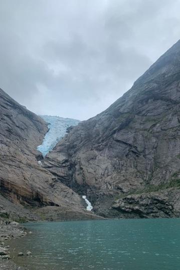 Le glacier vu de près
