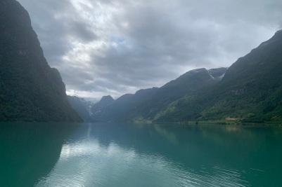 Le glacier vu de loin