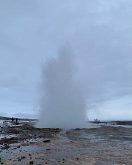 Le geyser...