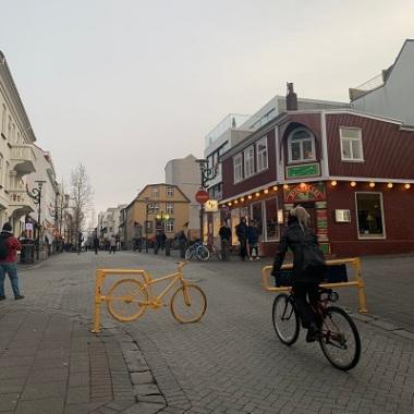 Des vélos... Bref, une ville.